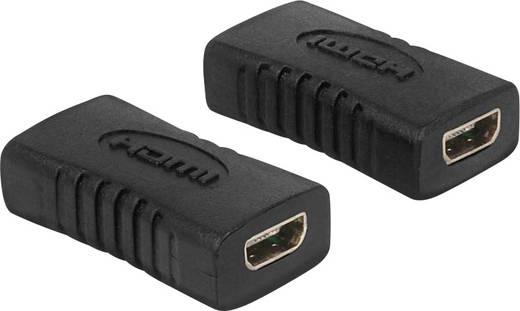 HDMI Adapter [1x HDMI-Buchse D Micro - 1x HDMI-Buchse D Micro] Schwarz vergoldete Steckkontakte Delock