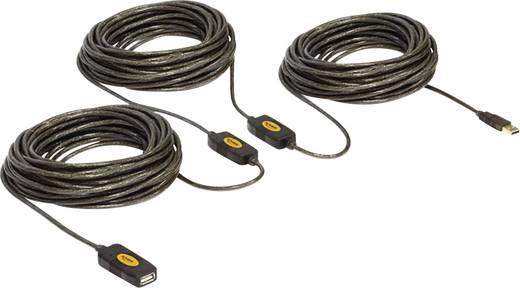 Delock USB 2.0 Verlängerungskabel [1x USB 2.0 Stecker A - 1x USB 2.0 Buchse A] 30 m Schwarz vergoldete Steckkontakte, UL