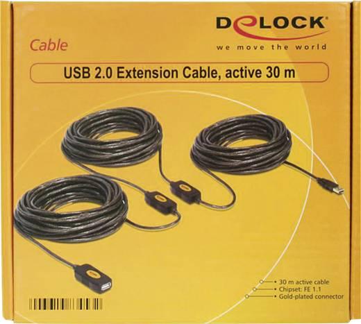 USB 2.0 Verlängerungskabel [1x USB 2.0 Stecker A - 1x USB 2.0 Buchse A] 30 m Schwarz vergoldete Steckkontakte, UL-zertif