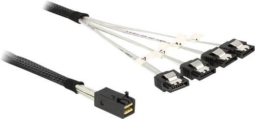 Festplatten Anschlusskabel [1x Mini-SAS-Buchse (SFF-8643) - 4x SATA-Stecker 7pol.] 0.50 m Schwarz Delock
