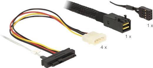 Festplatten Anschlusskabel [1x Mini SAS HD x4 SFF 8643 Stecker - 4 x SAS 29 Pin SFF 8482 Buchse, 4 x Molex Stromanschlus