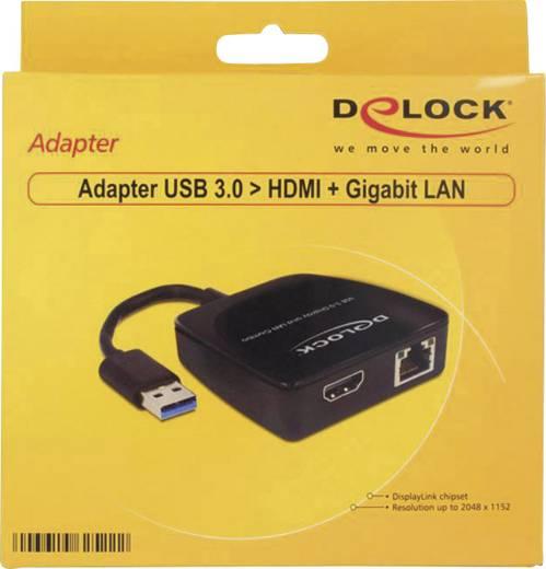 Netzwerkadapter 1 Gbit/s Delock 62522 HDMI™, USB 3.0, LAN (10/100/1000 MBit/s)