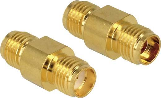 WLAN-Antennen Adapter [1x SMA-Buchse - 1x SMA-Buchse] 0 m Gold Delock