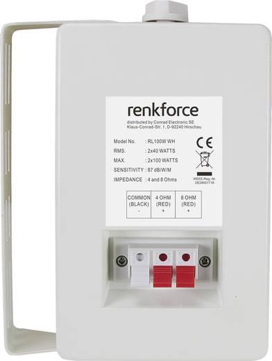 Renkforce RL100W WH Regallautsprecher Weiß 100 W 90 bis 20000 Hz 1 Paar