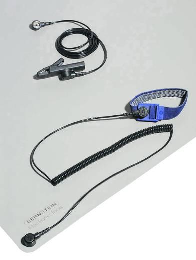 ESD-Tischmatten-Set Platin-Grau (L x B) 800 mm x 600 mm Bernstein 9-361 inkl. Erdungskabel, inkl. Erdungsarmband, inkl.
