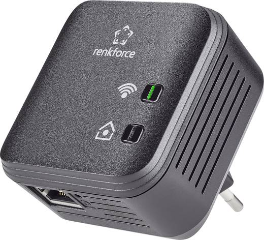 Powerline WLAN Einzel Adapter 500 MBit/s Renkforce PL500D WiFi