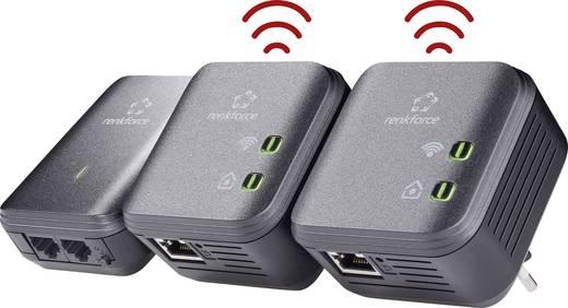 Powerline WLAN Network Kit 500 MBit/s Renkforce PL500D WiFi powered by devolo