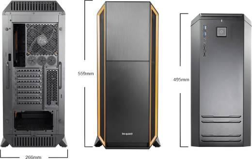 Midi-Tower PC-Gehäuse, Gaming-Gehäuse BeQuiet Silent Base 800 Orange Schwarz, Orange