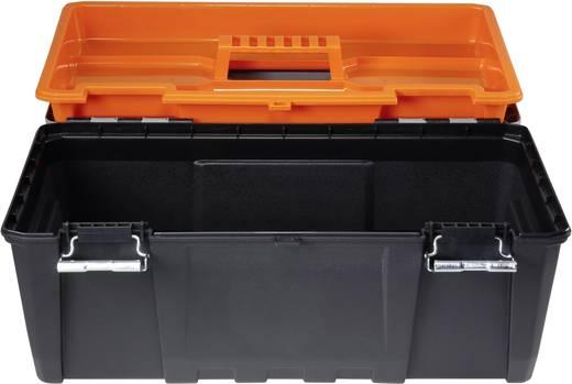 Werkzeugkasten unbestückt Basetech 1299330 Polypropylen Schwarz, Grau, Orange
