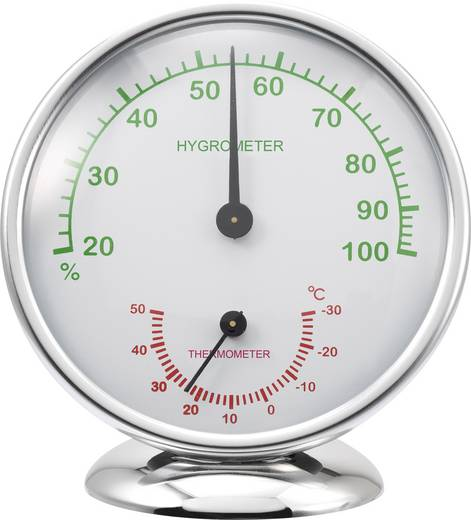 Thermo-/Hygrometer Renkforce 6510 Alu Aluminium
