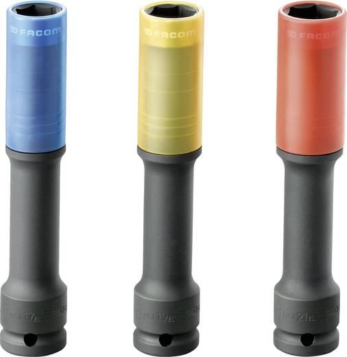 """Außen-Sechskant Steckschlüssel-Schoneinsatz-Set 3teilig 1/2"""" (12.5 mm) Produktabmessung, Länge 130 mm Facom NSI.3ELP"""