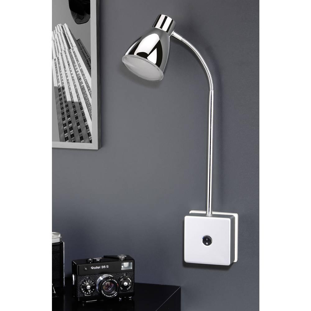 lampe led pour prise de courant briloner 3 w chrome sur le site internet conrad 1299697. Black Bedroom Furniture Sets. Home Design Ideas