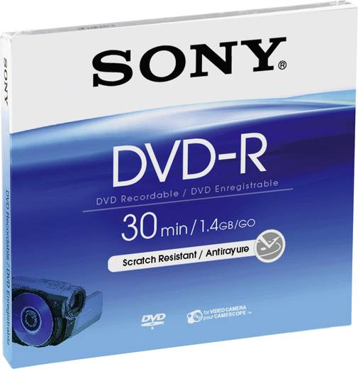 8 cm Mini DVD-R Rohling 1.46 GB Sony DMR30A 5 St. Jewelcase