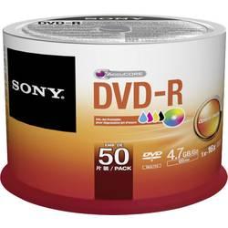 DVD-R 4.7 GB Sony 50DMR47PP, možnosť potlače, 50 ks, vreteno