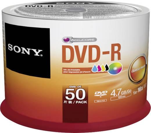 DVD-R Rohling 4.7 GB Sony 50DMR47PP 50 St. Spindel Bedruckbar