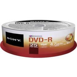 DVD-R 4.7 GB Sony 25DMR47SP, 25 ks, vreteno