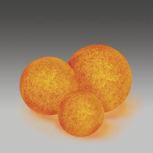 Gartenleuchte Kugel LED, Energiesparlampe E27 9 W Heitronic Mundan 35953 Terracotta