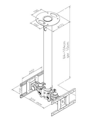 """TV-Deckenhalterung 25,4 cm (10"""") - 101,6 cm (40"""") Neigbar+Schwenkbar, Rotierbar NewStar Products FPMA-C200D"""
