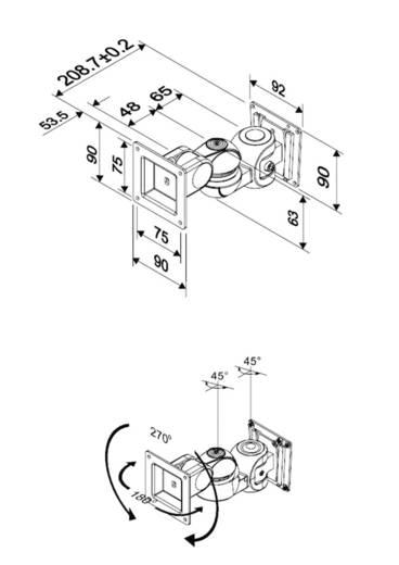 "Monitor-Wandhalterung 25,4 cm (10"") - 76,2 cm (30"") Neigbar+Schwenkbar NewStar Products FPMA-W910"