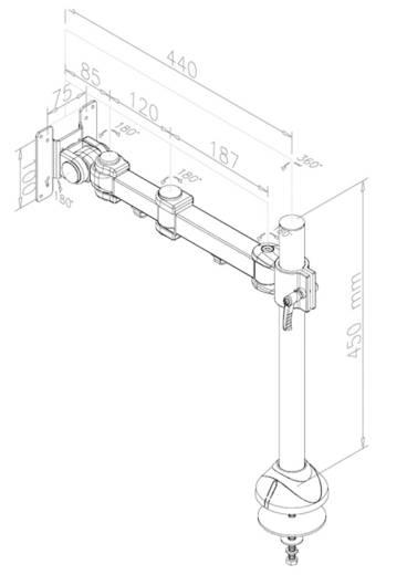 """NewStar Products FPMA-D960G Monitor-Tischhalterung 25,4 cm (10"""") - 76,2 cm (30"""") Neigbar+Schwenkbar, Rotierbar"""