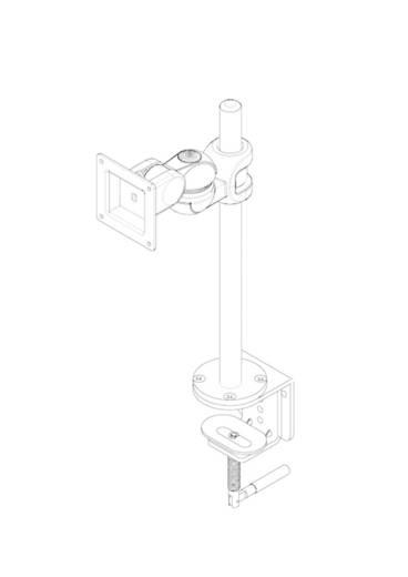 """Monitor-Tischhalterung 25,4 cm (10"""") - 76,2 cm (30"""") Neigbar+Schwenkbar, Rotierbar NewStar Products FPMA-D910"""