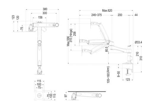 """Monitor-Tischhalterung 25,4 cm (10"""") - 76,2 cm (30"""") Neigbar+Schwenkbar, Rotierbar NewStar Products FPMA-D980"""