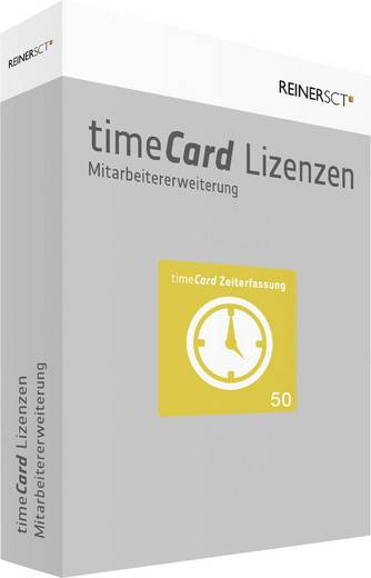 Zeiterfassung Software-Erweiterung ReinerSCT timeCard Version 6.0 Zeiterfassung / 50 Mitarbeiter