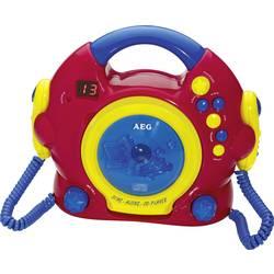 Detský CD prehrávač AEG CDK 4229 Kids Line CD vr. karaoke, vr. mikrofónu, červená, farebná