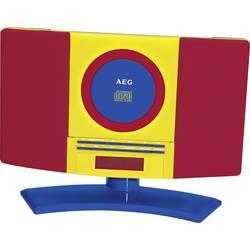 Detský CD prehrávač AEG MC 4464 Kids Line AUX, CD, UKW montáž na stenu, červená, farebná