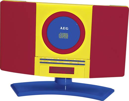 Kinder CD-Player AEG 400628 AUX, CD, UKW Wandmontage Rot, Bunt