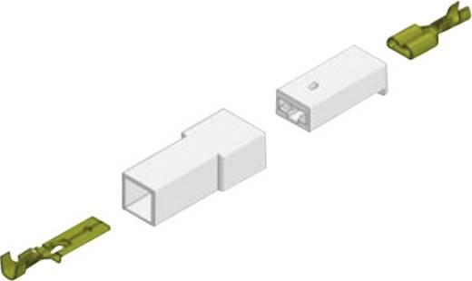 Flachsteckhülse vibrationssicher Steckbreite: 4.8 mm Steckdicke: 0.5 mm 180 ° Unisoliert Messing Vogt Verbindungstechnik