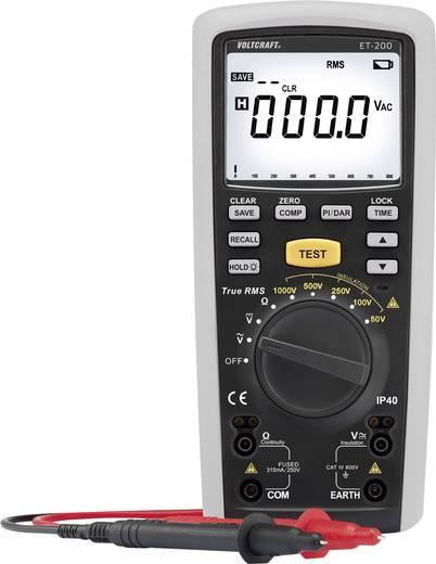 VOLTCRAFT ET-200 Isolationsmessgerät 50 V, 100 V, 250 V, 500 V, 1000 V 20 GΩ Kalibriert nach DAkkS