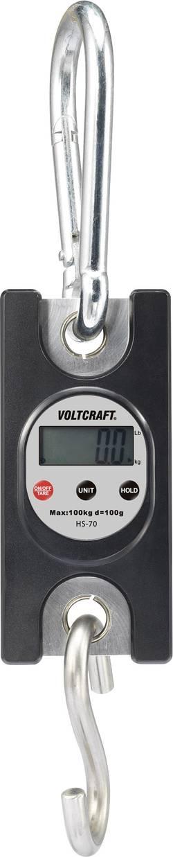 Závěsná váha VOLTCRAFT HS-70, Max. váživost 100 kg, Rozlišení 100 g, černá