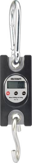 Hängewaage VOLTCRAFT HS-70 Wägebereich (max.) 100 kg Ablesbarkeit 100 g Schwarz