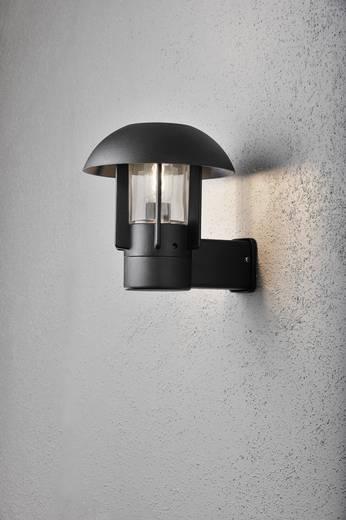 Außenwandleuchte Energiesparlampe, LED E27 60 W Konstsmide Heimdal 404-750 Schwarz