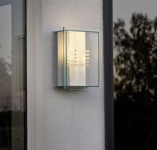 Außenwandleuchte Energiesparlampe, LED E27 15 W Konstsmide Sol 409-310 Silber, Transparent