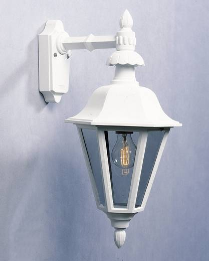 Außenwandleuchte Energiesparlampe, LED E27 60 W Konstsmide Pallas Down 483-250 Weiß