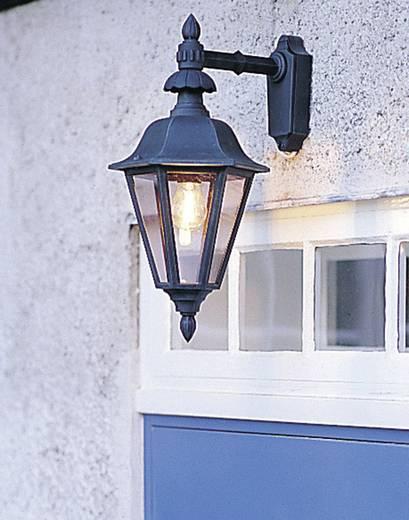 Außenwandleuchte Energiesparlampe, LED E27 60 W Konstsmide Pallas Down 483-750 Schwarz