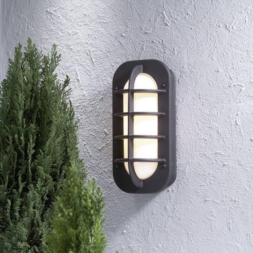 Außenwandleuchte Energiesparlampe, LED E27 60 W Konstsmide Loke 513-752 Schwarz