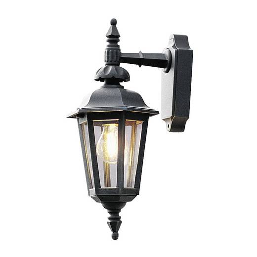 Außenwandleuchte Energiesparlampe, LED E27 60 W Konstsmide Pallas Down 519-750 Schwarz