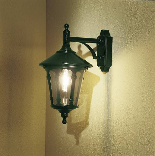 Außenwandleuchte Energiesparlampe, LED E27 100 W Konstsmide Virgo Down 568-600 Grün