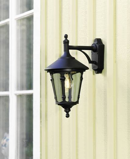 Außenwandleuchte Energiesparlampe, LED E27 100 W Konstsmide Virgo Down 568-750 Schwarz