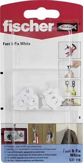 Fischer Wandhaken Fast & Fix White K 8 St.