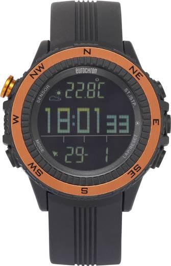 Quarz Armbanduhr EQAS 400 (Ø x H) 51 mm x 14.5 mm Anthrazit Gehäusematerial=Kunststoff Eurochron