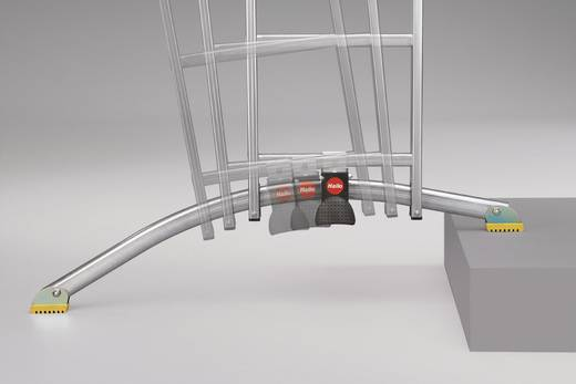 Aluminium Mehrzweckleiter Arbeitshöhe (max.): 8.00 m Hailo ProfiLine trio 9310-551 Silber 25.4 kg