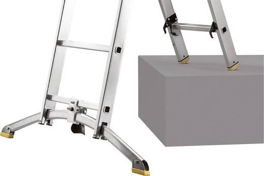 Aluminium Mehrzweckleiter Arbeitshöhe (max.): 5.65 m Hailo ProfiLine Duo 9410-551 Silber 15.1 kg