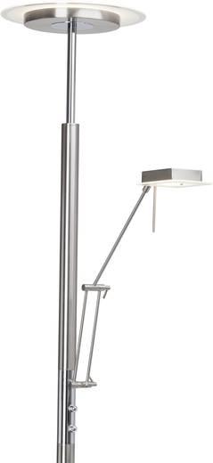 LED-Deckenfluter mit Leselampe 18 W Warm-Weiß Brilliant Arthur G93032/77 Chrom, Eisen