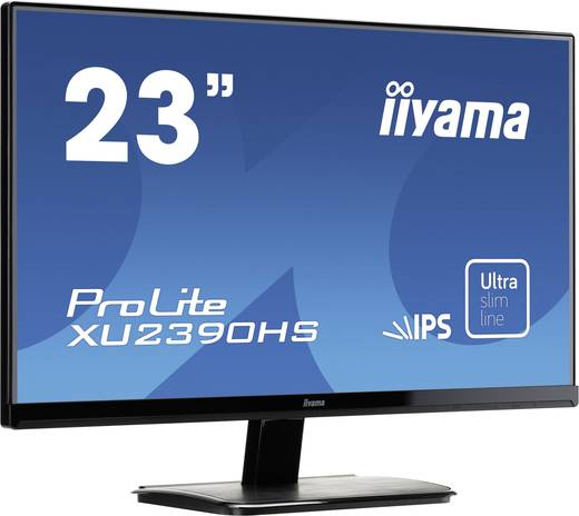 LED-Monitor 58.4 cm (23 Zoll) Iiyama XU2390HS-B1 EEK A 1920 x 1080 Pixel Full HD 5 ms HDMI™, DVI, VGA IPS LED