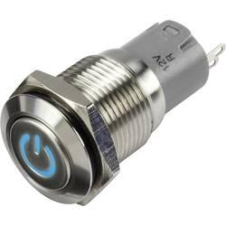 Tlačidlový spínač TRU COMPONENTS LAS2GQF-11ZDT/B/12V/S/P, 48 V/DC, 2 A, oceľová, 1 ks