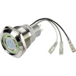 Tlačidlový spínač TRU COMPONENTS LAS1-AGQ30-11Z/B/RG 12V, 250 V/AC, 3 A, 1 ks